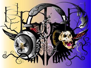 drawing design skull