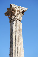 Building detail in Ephesus (Efes) from Roman time in Turkey