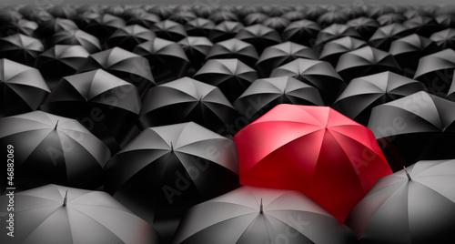 Regenschirme rot-schwarz