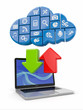 Cloud computing. Concept image.