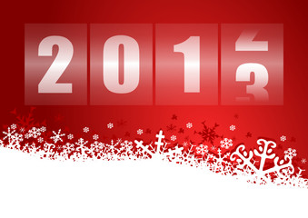 happy new year 2013 illustration with counter