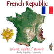 France Europe national emblem map symbol motto
