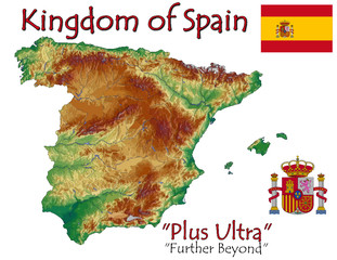 Spain Europe national emblem map symbol motto