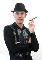 парень с сигарой