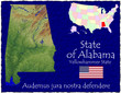 Alabama USA State map location nickname motto