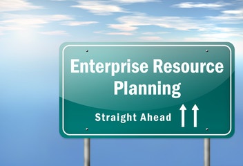 "Highway Signpost ""Enterprise Resource Planning"""