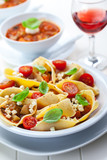 Pasta with vegetable stew