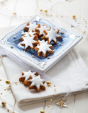 Homemade gingerbread star cookies for Christmas