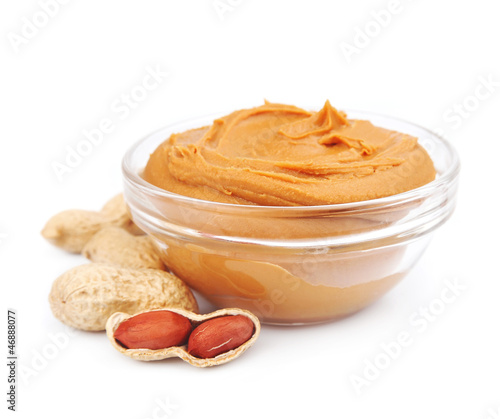 Creamy peanut butter with nuts