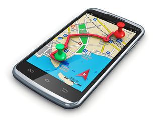 GPS navigation in smartphone