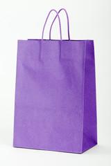 Violet shopping bag.