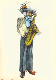 Saxophone player - Fabulously beloved grandfather. poster
