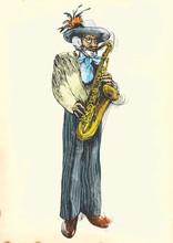 Saxophone player - Fabulously geliebten Großvater.