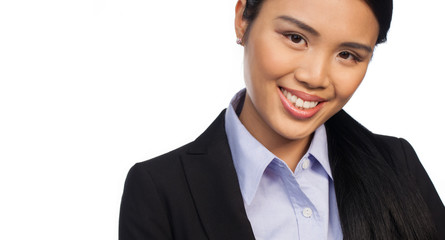 Cropped portrait of an Asian businesswoman
