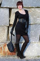 Die schwarze Handtasche