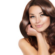 Beautiful Brunette Woman Portrait with healthy Hair
