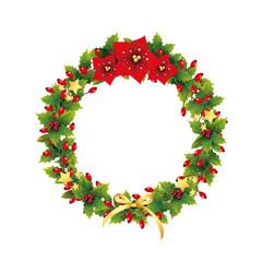 Hagebuttenkranz mit Weihnachtssterne