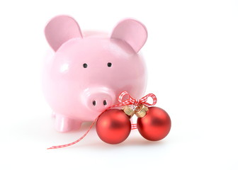 Sparschwein und Weihnachten