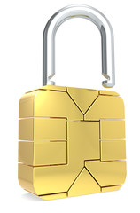 Sim Card made like a Padlock. Open.