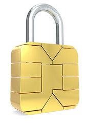 Sim Card made like a Padlock. Locked.