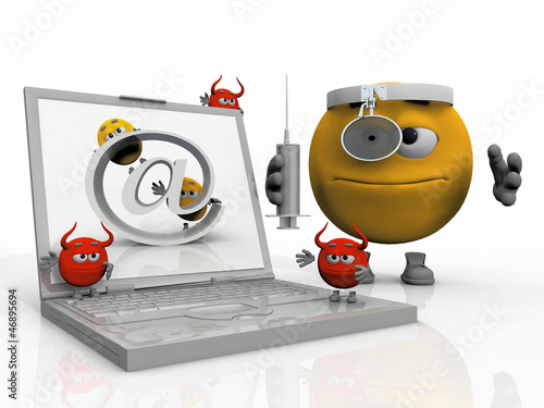Dr.  Smiley anti virus and an infected computer