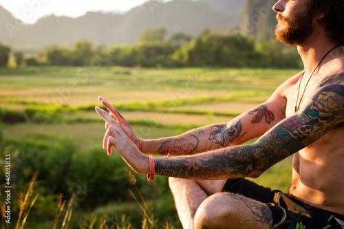 canvas print picture Meditation