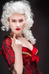 Girl in baroque dress