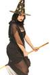 Witch flying with broom
