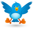 Twitter Bird Cartoon Icon Illustration