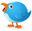Twitter Bird Cartoon Icon