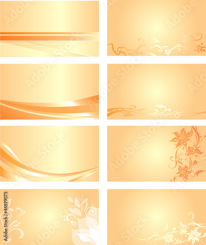 Orange business card background