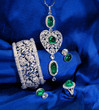 set of the elegant emerald jewelry