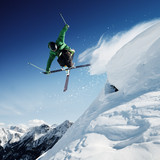 Fototapeta sprawność - powietrze - Sporty Zimowe