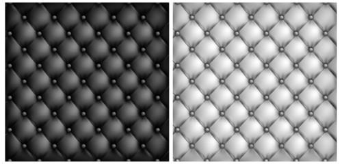White & black leather upholstery background