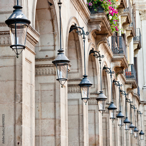 Streetlamps at Placa Reial, Barcelona