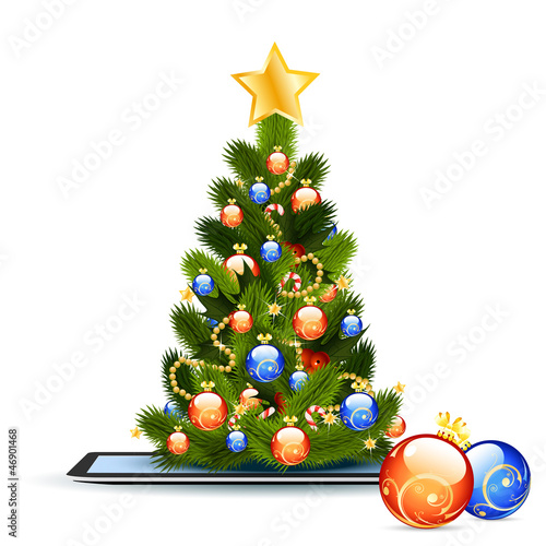 Christmas Tree on Tablet PC