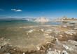 Rivage salé du lac de Mono Lake