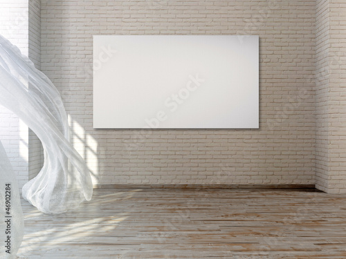 leere leinwand im industrie loft 3d stockfotos und lizenzfreie bilder auf bild. Black Bedroom Furniture Sets. Home Design Ideas