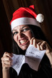 Bad Woman with Santa Hat destroying a Letter