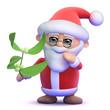 Santa with mistletoe