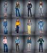 jeans collection lady's clothes