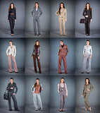 Collection of women's trouser suits