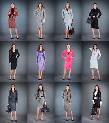 Collection of women's business suits