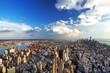 Vue aérienne de l'île de Manhattan, New York.