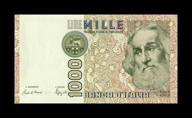 1000 lire Marco Polo recto