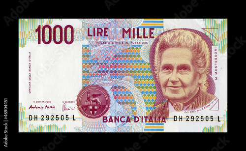 1000 lire Montessori recto