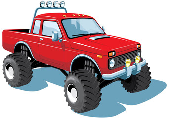 Vector isolated monster truck