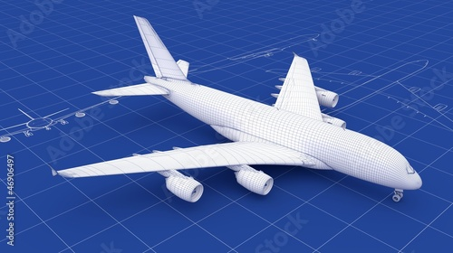 Commercial Aircraft Blueprint