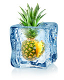 Ice cube and pineapple