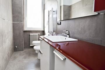 Red bathroom